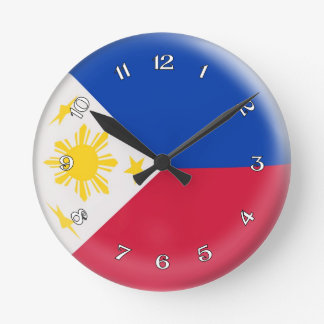 Clock Philippines Philippino flag Bubble Design