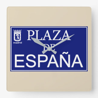 """Clock """"Place of Spain """""""