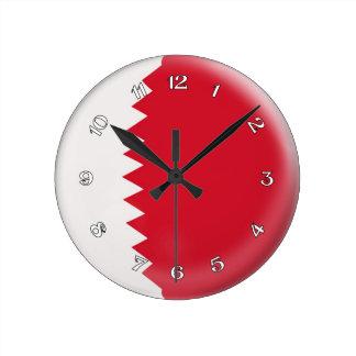 Clock Qatar flag Bubble Design
