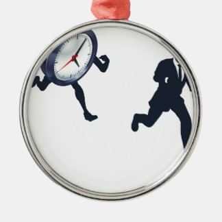 Clock Race Business Man Concept Christmas Ornament