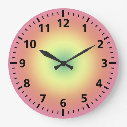 Clock - Rainbow circles and Minute dashes