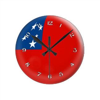 Clock Samoa flag Samoan Bubble Design