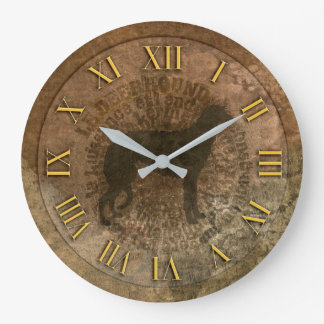 Clock scottish deerhound