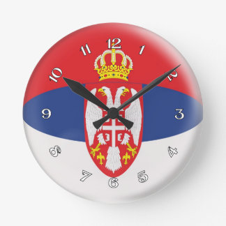 Clock Serbia Serbian flag Bubble Design