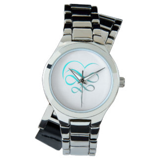 Clock silver watch