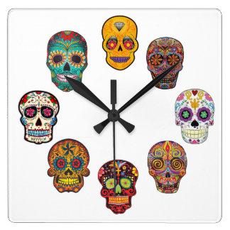 Clock Skulls