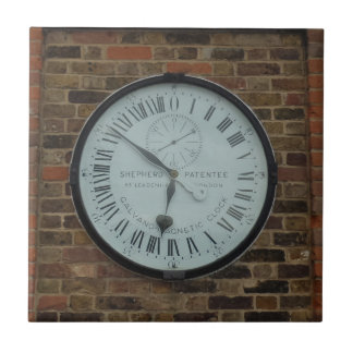 "Clock Small (4.25"" x 4.25"") Ceramic Photo Tile"