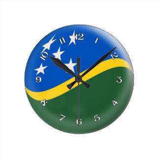Clock Solomon Island flag Bubble Design