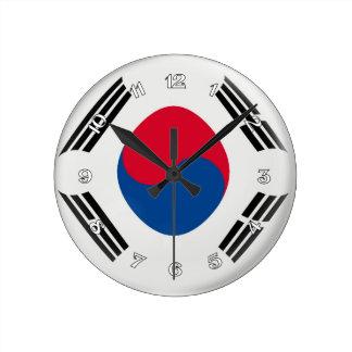 Clock South Korea Korean flag Bubble Design