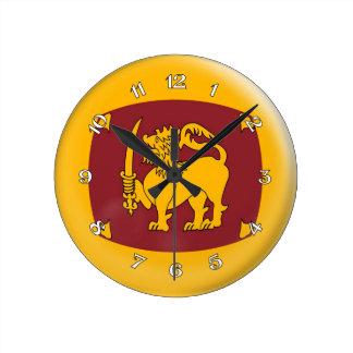 Clock Sri Lanka flag Bubble Design
