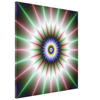 Clock Star Canvas Print