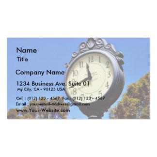 Clock Street Business Card Template