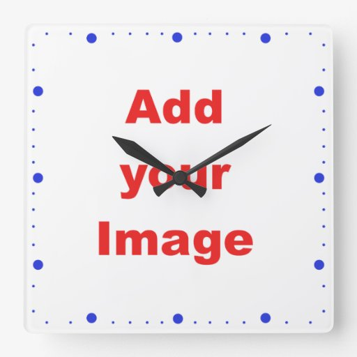 Clock template - Minute markers - Add your Image