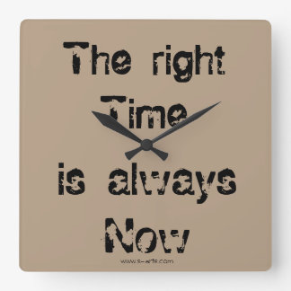 "Clock ""The right time """