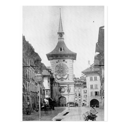 Clock Tower, Berne, Switzerland ca. 1890 Postcard
