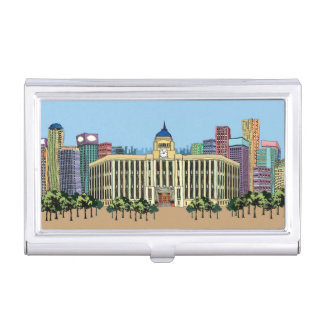 Clock Tower Business Card Holder