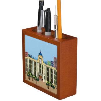 Clock Tower Desk Organiser