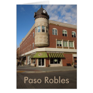 Clock Tower, Downtown Paso Robles, California Greeting Card