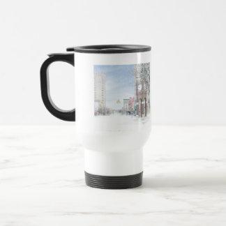 Clock Tower Jackson Michigan Travel Mug