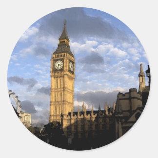 Clock Tower Round Sticker