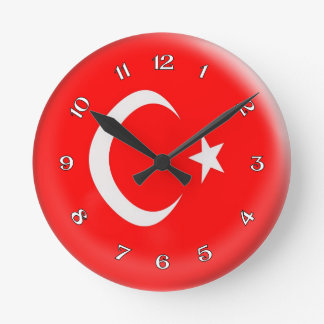 Clock Turkey Turkish flag Bubble Design