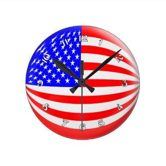 Clock USA America American flag Bubble Design