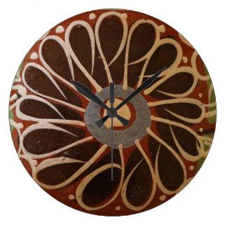 clock vintage mexican pottery design southwest