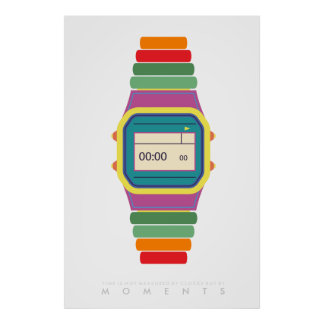 Clock Watch   Retro Pop Art Poster 70s 80s   Quote