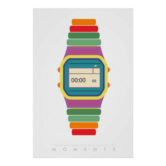 Clock Watch | Retro Pop Art Poster 70s