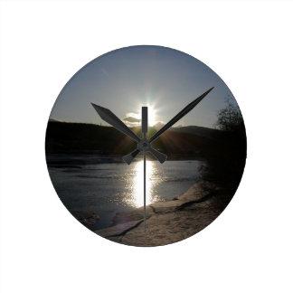 clock with photo of Yukon River