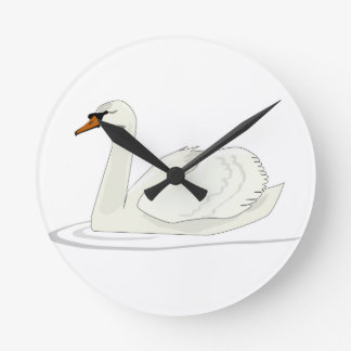 Clock with swan picture