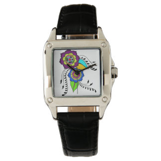 Clock woman - flowers commands it watch