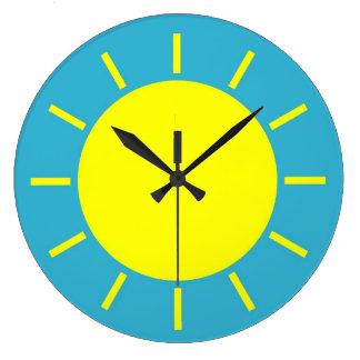 Clockface Sunshine yellow Large Clock