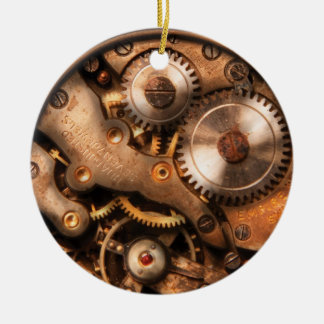 Clockmaker - Gears Round Ceramic Decoration