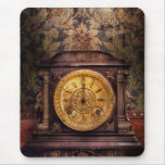 Clockmaker - Wolf Clock Mouse Pad