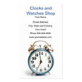 clocks and watches shop business cards