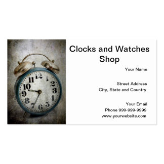 clocks and watches shop business card template