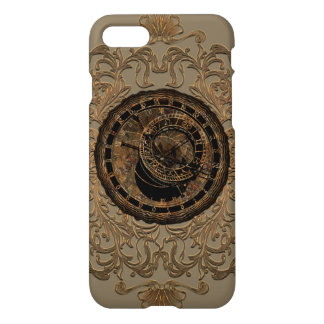 Clocks and zodiac signs with floral elements iPhone 7 case