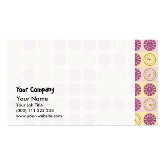 Clocks pattern pack of standard business cards