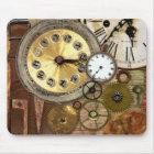 Clocks Rusty Old Steampunk Art Mouse Mat
