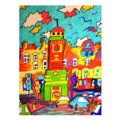 Clocktower Fun Post Card