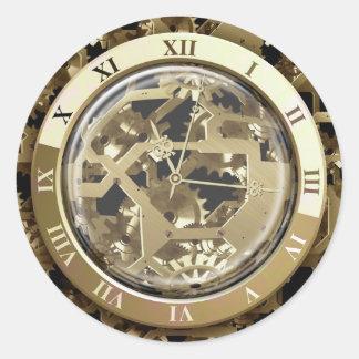 Clockwork 6A Options Round Sticker