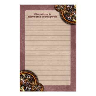 Clockwork and Leather, stationery