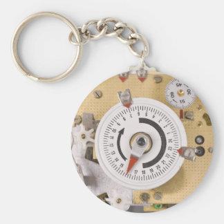 clockwork basic round button key ring