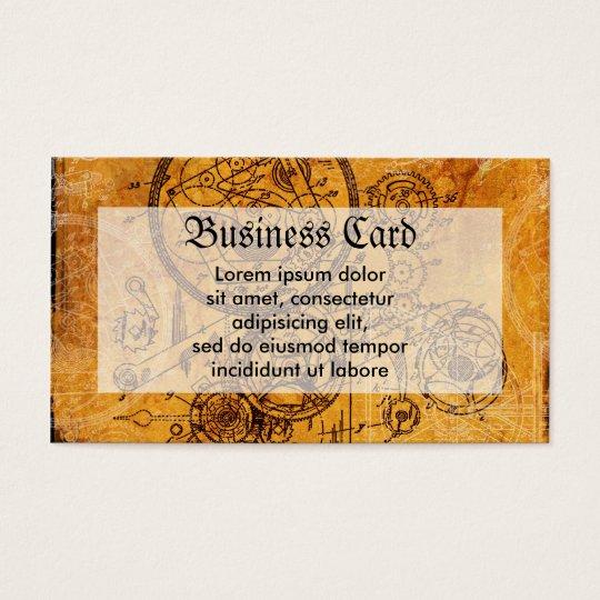 Clockwork Collage Business Card