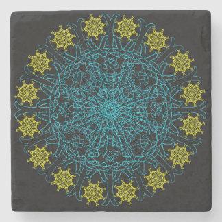 Clockwork Flower Mandala Stone Coaster