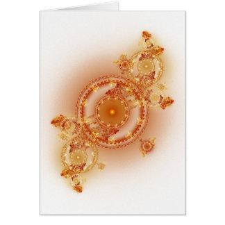 Clockwork I - Fractal Art Card