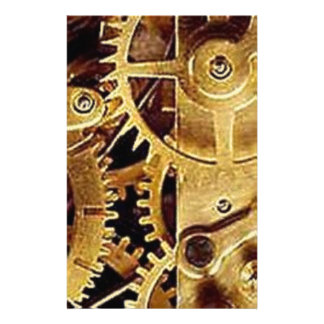 clockwork MECHANISM CLOCK Personalized Stationery