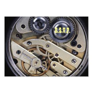 Clockwork mechanism design 13 cm x 18 cm invitation card