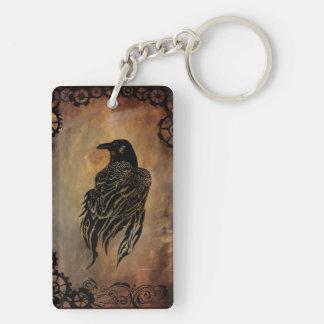 Clockwork Raven Key Ring